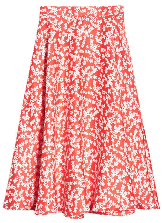 d3524dd2e I thought I would go out on a limb and mix a pretty floral skirt with some  fun gingham mules. Top suggestion: A thin-ribbed white tee.